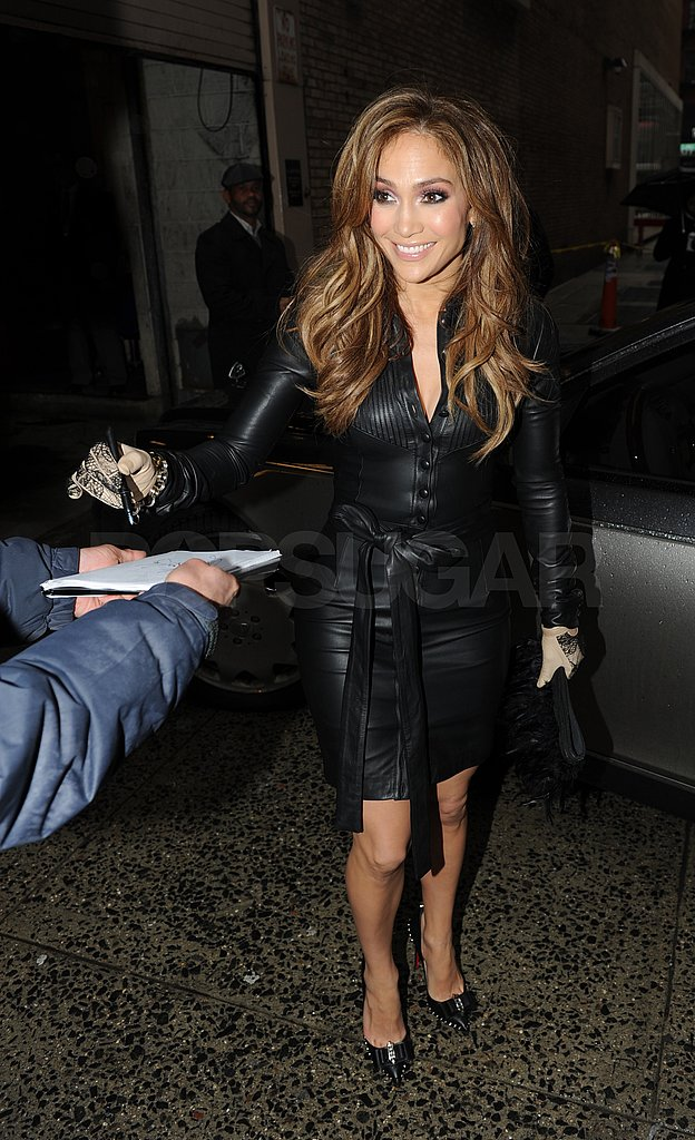 Pictures of Jennifer Lopez Arriving at Live With Regis and Kelly Studios in NYC