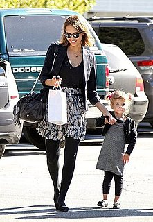 Pictures of Jessica Alba and Honor at Lunch With Friends in LA