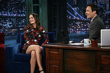 Leighton Meester Has a Late Night With Jimmy Fallon Following a Long Day With Minka