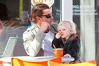 Pictures of Gavin Rossdale With Kingston Rossdale Eating Ice Cream in LA