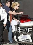 Pictures of Britney Spears in LA as Femme Fatale Name Announced