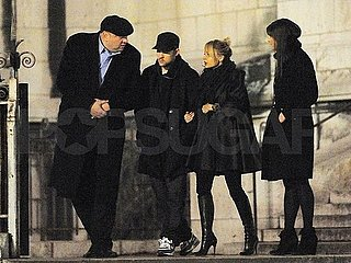 Pictures of Nicole Richie and Joel Madden Shopping at Colette in Paris