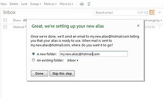 Hotmail Alias Accounts