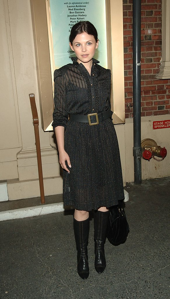 Big Love is in its first season in 2006, and Ginnifer looks polished and chic in all black.