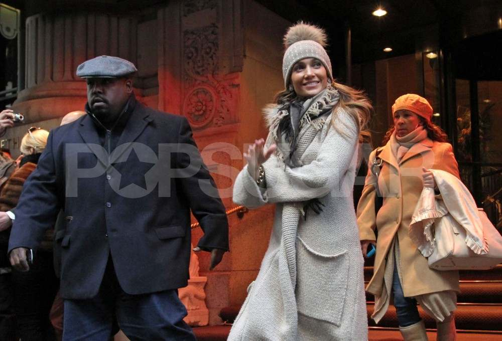 J Lo and Marc Take Max and Emme For Toys at FAO Schwarz