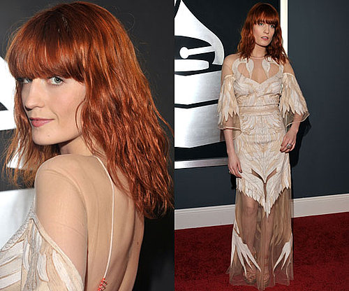 Florence Welch in Givenchy S/S couture Swan Dress at the Grammys 2011
