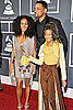 Willow Smith, Jada Pinkett-Smith, and Will Smith Grammys 2011