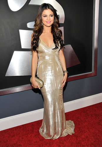 Pictures of Selena Gomez on the Red Carpet at the 2011 Grammy Awards 2011-02-13 17:09:05