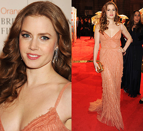 Photos of Amy Adams at the 2011 BAFTA Awards in Elie Saab