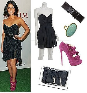 Olivia Munn's Chic Super Bowl Party Look