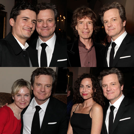 Pictures of Colin Firth The King's Speech Party With Orlando Bloom, Renee Zellweger, Minnie Driver, Michelle Williams and More