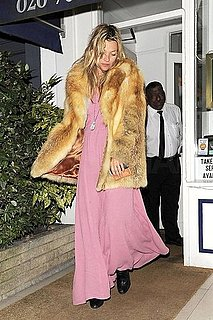 Pictures of Engaged Kate Moss Leaving Dinner With Two Friends in London