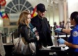 Pictures of Emily Blunt and John Krasinski at LAX