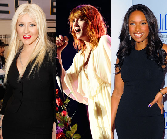 Christina Aguilera, Florence Welch and Jennifer Hudson