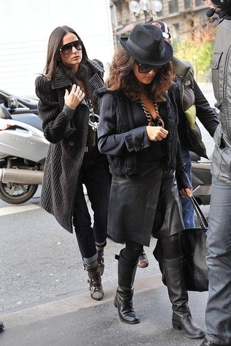 Pictures of Ashton Kutcher, Demi Moore, and Salma Hayek in Paris Ahead of No Strings Attached Promo in London