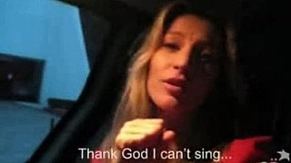 Video of Gisele Bundchen Singing in the Car