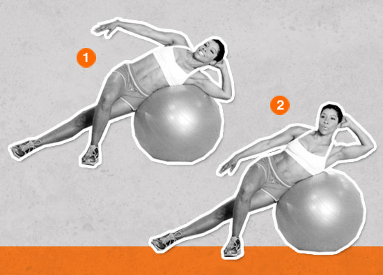 Lateral Flexion on the Ball (Core Sculpt — Love Handles)