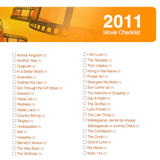 2011 Oscar Nominee Checklist to Print Out