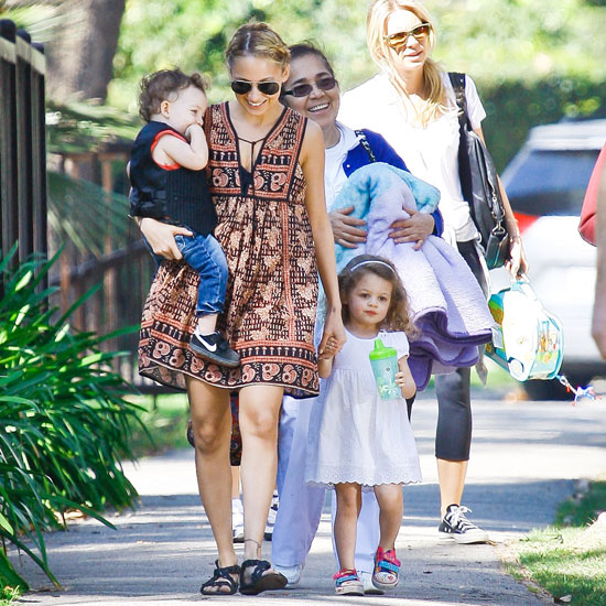 Nicole Richie Spends Valentine's Weekend With Her Two Sweets