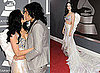 Katy Perry Has Angel Wings and Kisses Russell Brand on the 2011 Grammy Awards Red Carpet