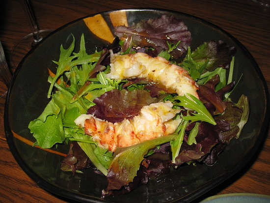 Salad with Lobster and Mimosa Dressing