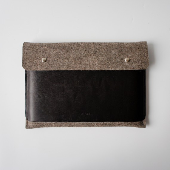 11-inch Brown Wool and Leather ($61)