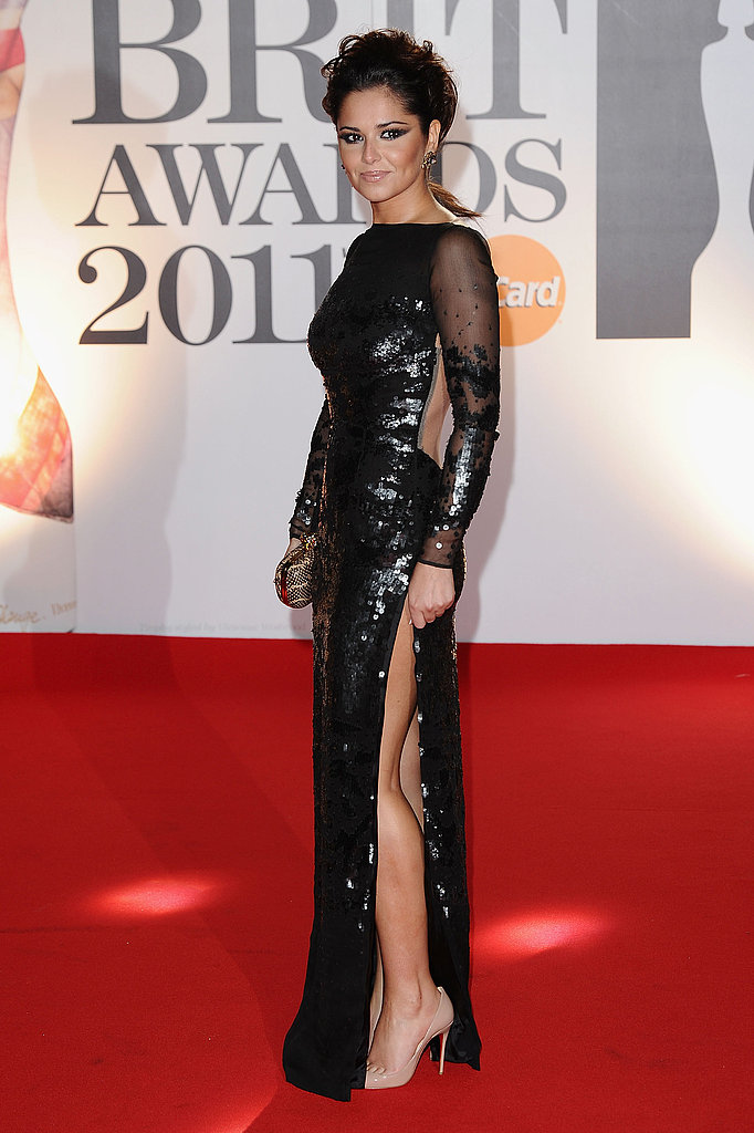 At the 2011 Brit Awards, Cheryl shimmered in black sequins by Stella McCartney.