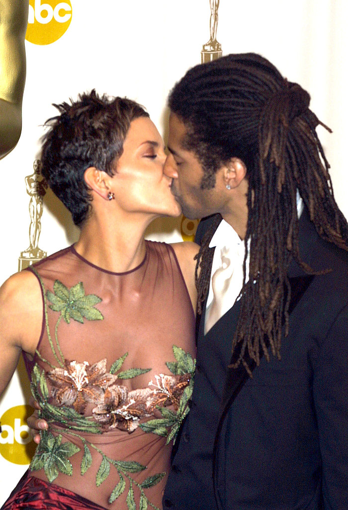 Halle Berry locked lips with then-husband Eric Benet after winning best actress for Monster's Ball in 2002.