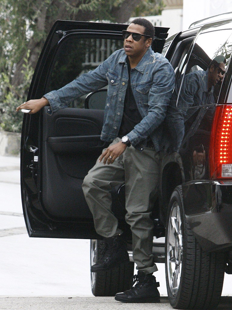 Pictures of Jay-Z Visiting Live Nation's Offices in Beverly Hills