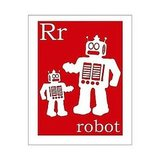 R Is For Robot Print