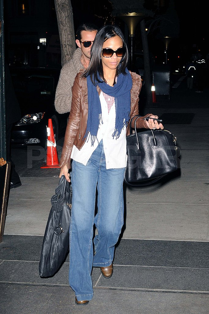 Zoe Saldana Steps Out in Style but Skips Fashion Week