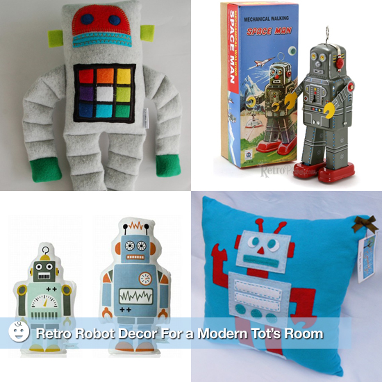 Retro Robot Decor For a Modern Tot's Room