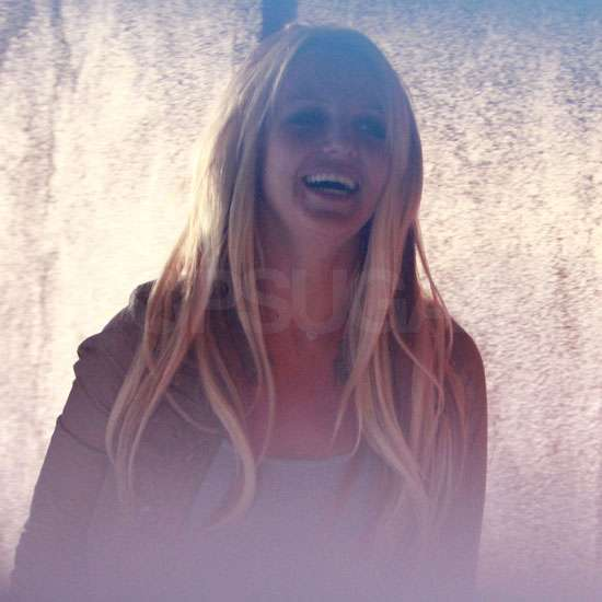 Pictures of Britney Spears at Studio After Hold It Against Me Video Debuts