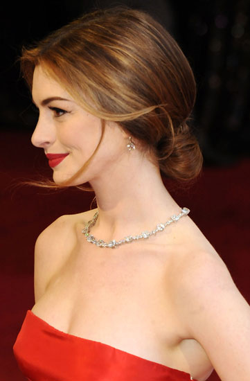 Anne Hathaway From the Side