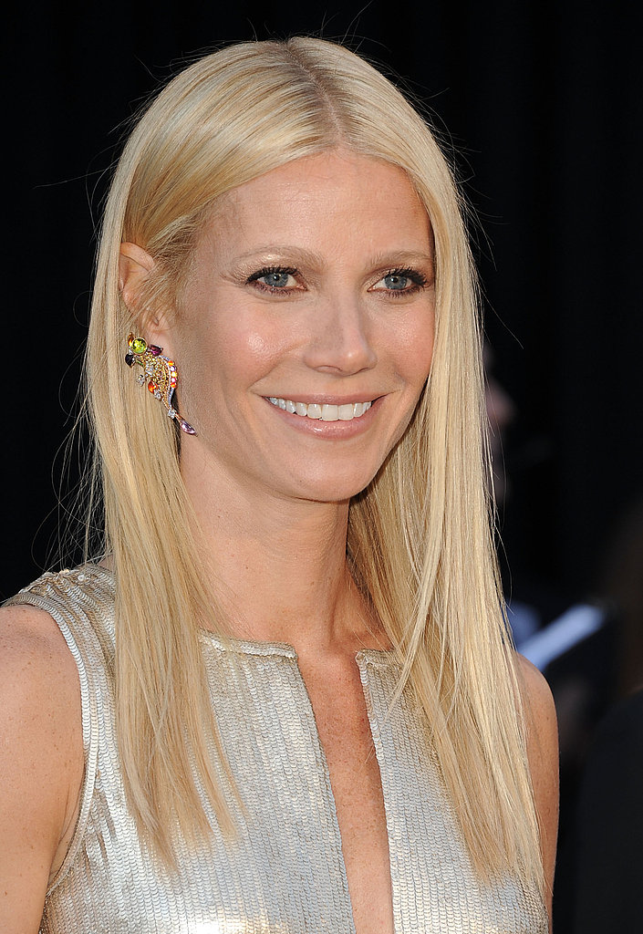 Gwyneth Paltrow Hides Her Bikini Body Under Metallic Calvin Klein