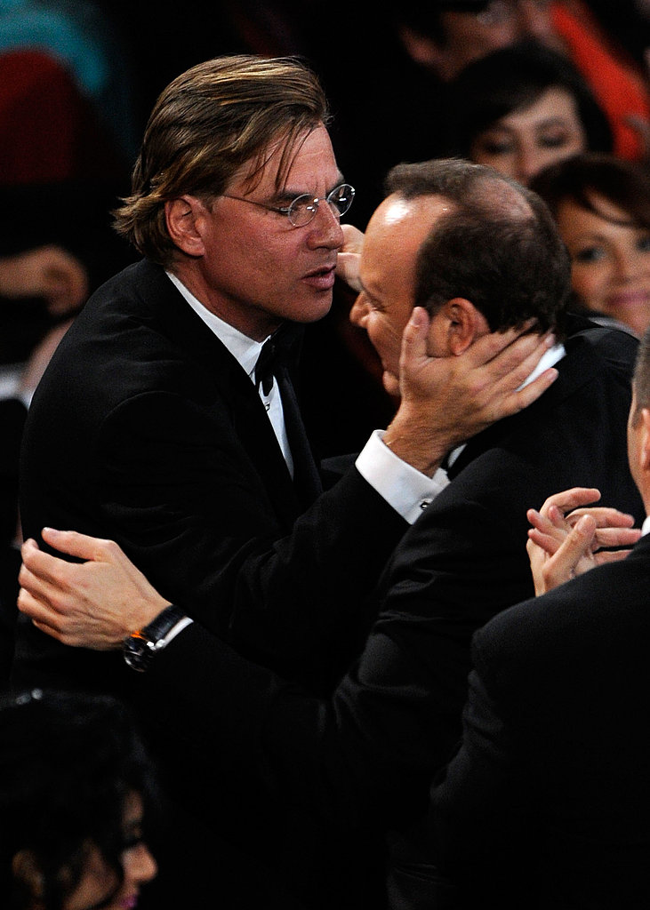 "The Social Network's Aaron Sorkin Says ""My Hat's Off to Mark Zuckerberg"" in Oscars Press Room"