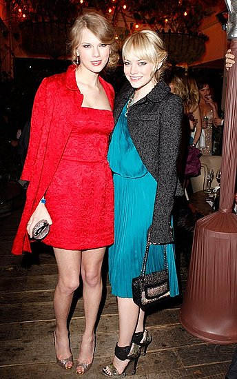 Taylor Swift and Emma Stone(2011 Pre-Oscar Party)
