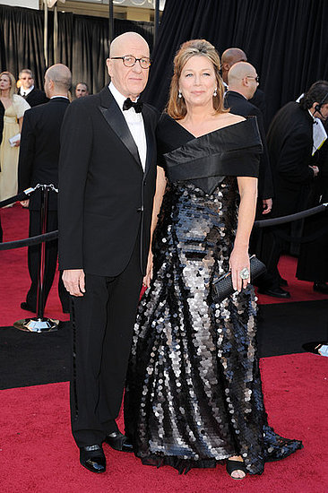 Geoffrey Rush and wife Jane Menelaus(2011 Oscars)