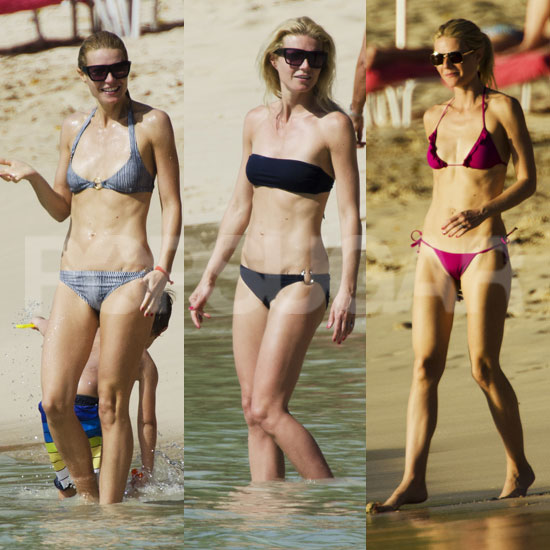 Gwyneth Paltrow Bikini Pictures in Barbados With Apple and Moses