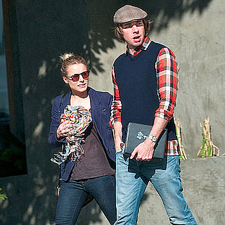 Pictures of Kristen Bell and Dax Shepard Getting Brunch at Little Dom's