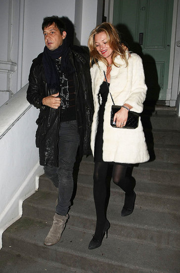 Pictures of Kate Moss With Jamie Hince in London Amid Reports She&#039;s Designing Her Own Wedding Dress