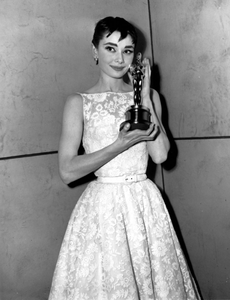 Audrey Hepburn at the 1954 Academy Awards
