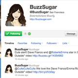 Follow BuzzSugar's Tweets on Twitter