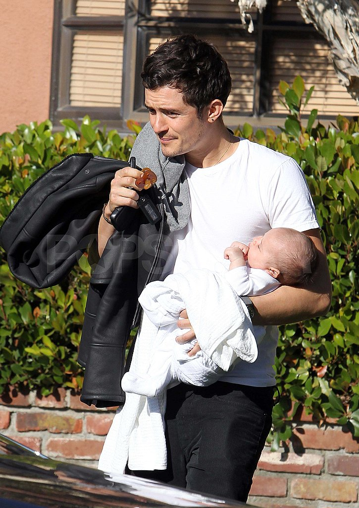 Orlando Bloom and Miranda Kerr Take Tiny Baby Flynn For an Outing!