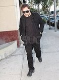 Pictures of New Dad Javier Bardem Running Errands in LA