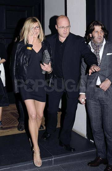 Jennifer Aniston Puts Her Best Foot Forward on a Friendly Date With Adam Sandler