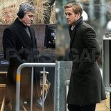 Pictures of Ryan Gosling and George Clooney Together on the Set of The Ides of March