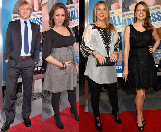 Alyssa Milano Debuts Her Baby Bump With New Dad Owen Wilson and Mum Christina Applegate at the Hall Pass Premiere