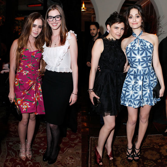 Pictures of Anne Hathaway, Lily Collins, Ginnifer Goodwin, Emmy Rossum at Harvey Weinstein and Dior&#039;s Oscar Dinner