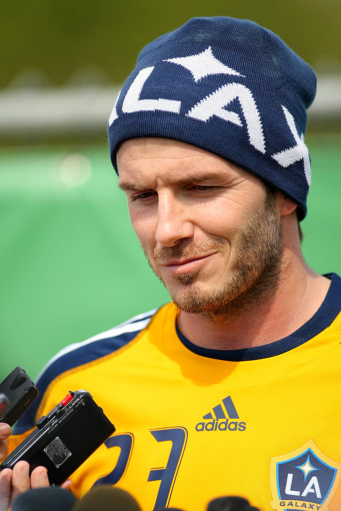 David Beckham Returns to the Galaxy to Talk About a New Tattoo!